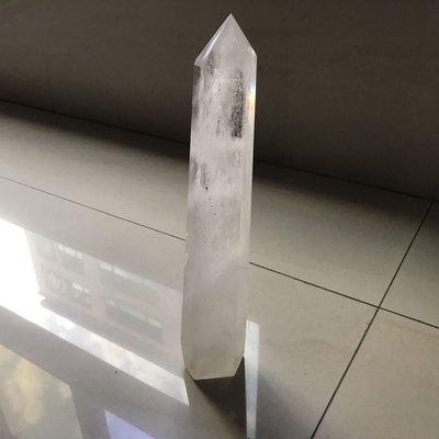 大隻白水晶柱 29公分 1.3公斤 開幕 送禮 補習班 激光柱 有底座 價格優惠 編號836