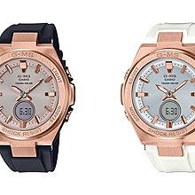 BuyLike !CASIO BABY-G  MSG-S200G-1A黑 7A白 女裝 玫瑰金 簡約型 錶 (包快遞)