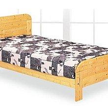 [ 家事達 ]DF- B392-5 白松木實木單人床架 特價 DIY 組裝 限送中部