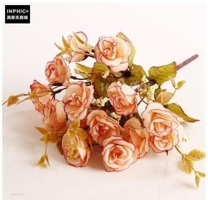 INPHIC-塑膠花娟插花花藝成品歐式假花套裝家居客廳整體擺設裝飾花-E款_S01870C