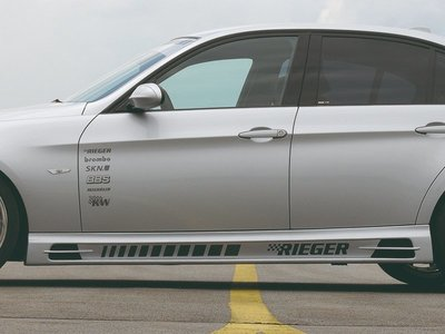 【樂駒】RIEGER BMW 3series E90 E91 side skirt 側裙 車側 飾板 空力 外觀 改裝