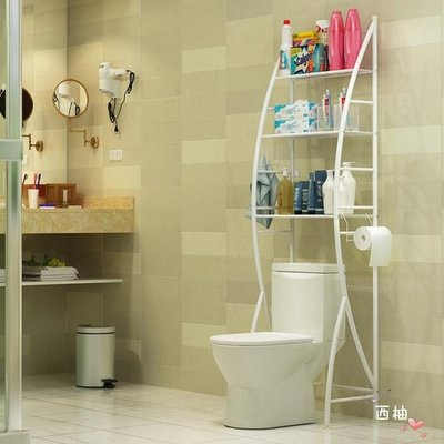 置物架浴室衛生間廁所馬桶架落地洗衣機架洗手間免打孔收納架架子 xw
