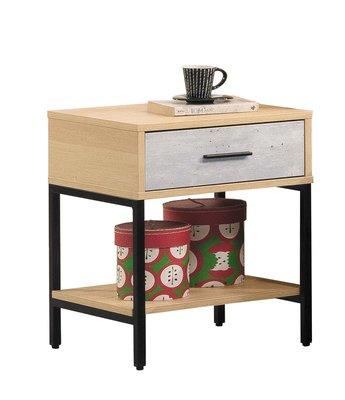 【生活家傢俱】SY-5-1※莫琳一抽床頭櫃【台中3600送到家】床邊櫃 置物櫃 收納櫃 木心板+系統板 北歐風 台灣製造