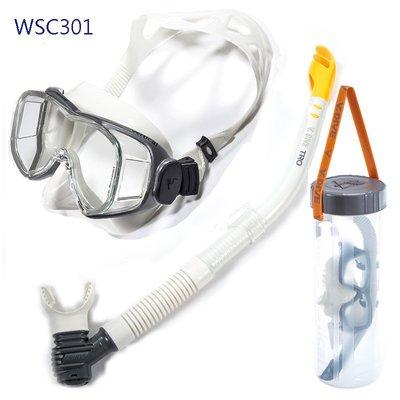 台灣潛水-V.DIVE  WSC Combo YACHT 面鏡+SN02 PRO 呼吸管