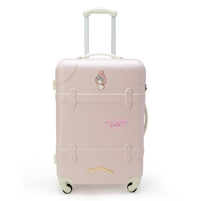 ♥小花花日本精品♥美樂蒂淡粉色硬殼造型行李箱SS號