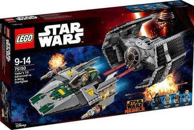 Lego 75150 Vader's TIE Advanced vs. A-wing Starfighter 靘盒
