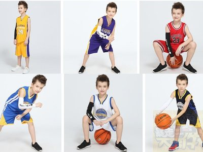 湖人公牛勇士騎士科比詹姆斯库里兒童籃球服套裝 球衣 球服 運動套裝 無袖t恤 運動褲 比賽隊服男女灌籃高手中小學生籃球衣
