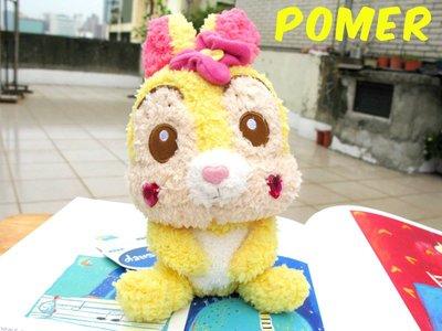 ☆POMER☆日本限定景品 SEGA 絕版正品DISNEY 邦妮兔 Miss Bunny 粉紅花朵 愛心軟綿綿娃娃玩偶