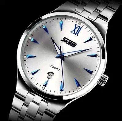 yes99buy加盟-正品時尚鋼帶日曆夜光男士手錶  十天預購
