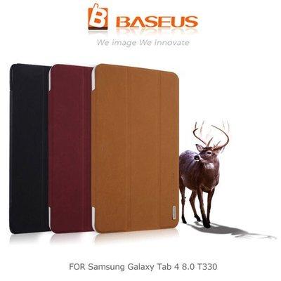 *PHONE寶*BASEUS 倍思 Samsung Galaxy Tab 4 8.0 T330 雅格三折磨砂皮紋皮套 智慧休眠 站立側翻