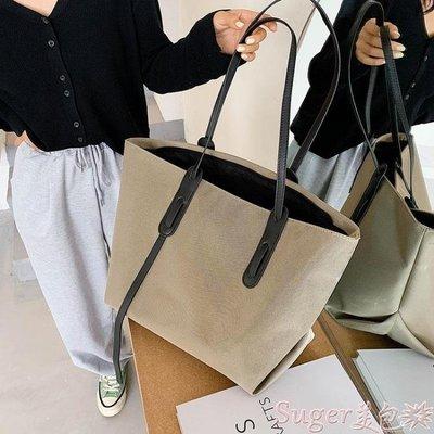 托特包 包包2020新款潮秋冬女大容量百搭帆布包時尚手提側背包大包托特包 suger
