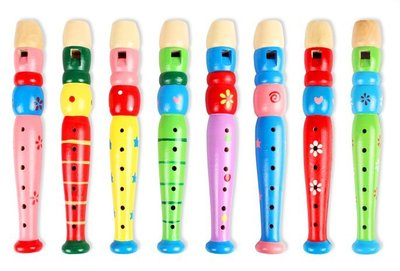【晴晴百寶盒】木製短笛 木製兒童豎笛 6孔短笛樂器 益智遊戲 教育玩具 生日禮物 送禮禮品 CP值高 平價促銷 A134
