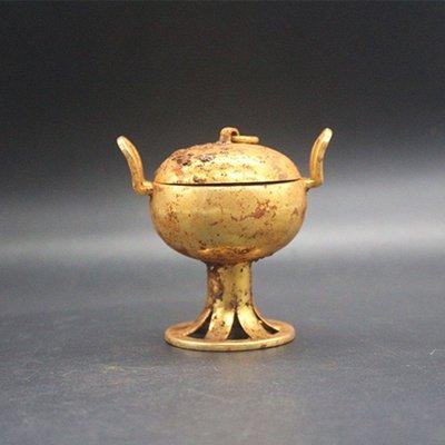 [古韻之家] 古玩雜項收藏仿古鎏金漢代...