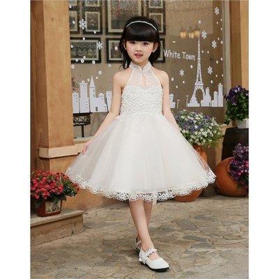 兒童婚紗禮服白雪公主裙大童主持女童生日鋼琴演出服晚禮服蓬蓬裙