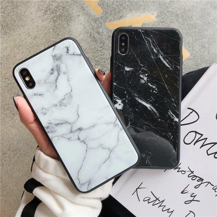 爆款--手機殼蘋果X/XR/7Plus/8玻璃硬殼8P全包軟邊iPhone6s情侶黑色白色女款#手機殼#配件#復古
