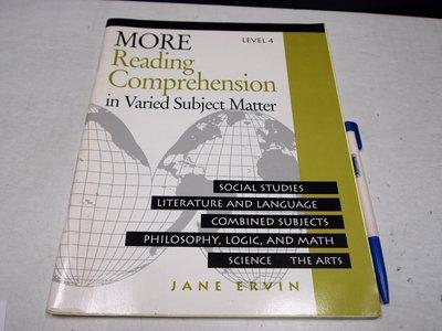 【考試院二手書】《MORE Reading Comprehension│Educators│JANE│七成新B11Z42