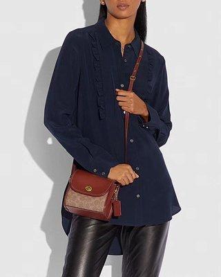 美國正品 COACH M1981_144 Originals系列女式小挎包 單肩包 翻蓋旋鎖 小身材大容量