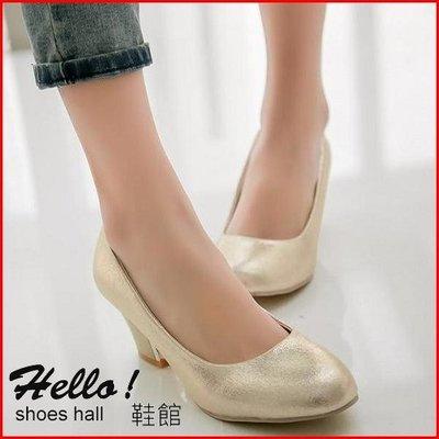 大尺碼*鞋館Shoes hall*【A7435】輕熟覺醒~百搭素面氣質亮面高跟鞋~3色~(可訂做大尺碼)