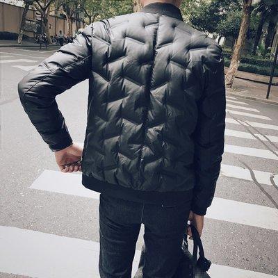 【時尚先生男裝】冬季羽絨服男短款輕薄韓版潮流修身2019新款立領青年男士帥氣外套羽絨大衣防寒外套韓版羽絨外套A009