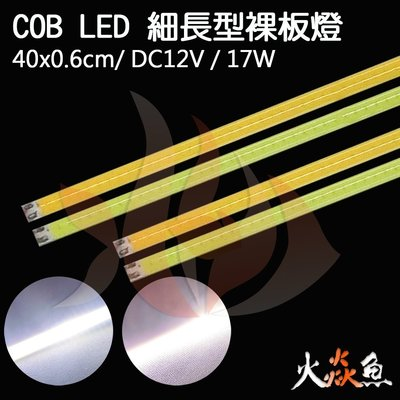 火焱魚 LED COB 細長型 40x0.6cm 裸板  暖白 3000K 白6500K 爆亮 日行燈 汽車 機車 板燈