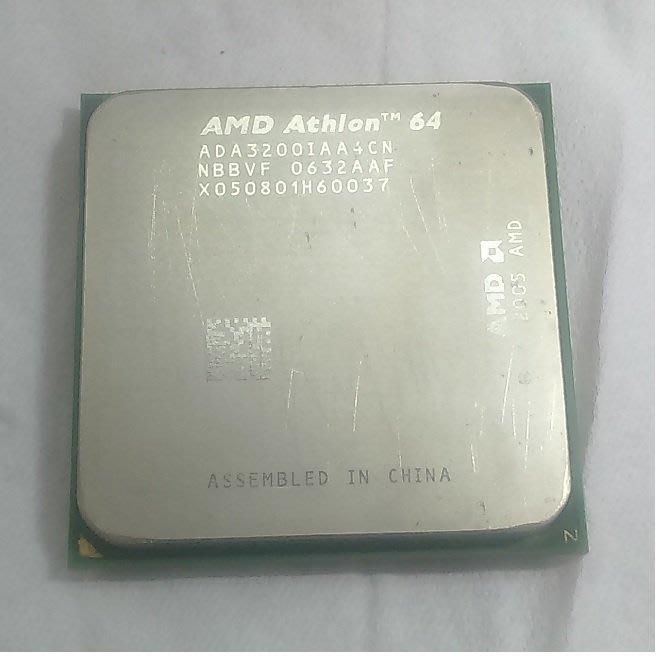 AMD Athlon64 3200+ 雙核心 AM2 CPU 附原廠風扇
