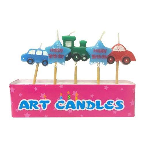 Q36【派對樂】生日派對生日蠟燭派對舞會道具__星星汽車造型蠟燭