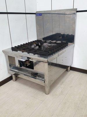鑫忠廚房設備-餐飲設備:二手單口高湯盧-賣場有瓦斯爐-快速爐-水槽-工作台-冰箱-西餐爐-烤箱-微晶調理爐
