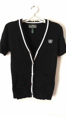 美國帶回正品Ralph Laren黑色純棉兩件式上衣~外套+背心