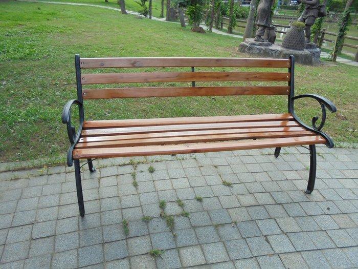 【兄弟牌戶外休閒傢俱】米蘭典雅雙人鑄鐵公園椅~椅腳可固定,自辦進口商庭園傢俱~!!價廉貨實,直購免運費