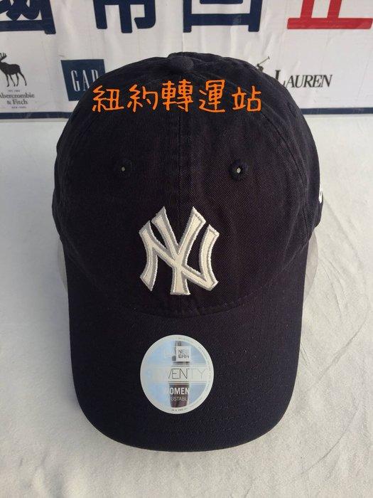 紐約轉運站 :美國現貨在台100%全新真品YANKEES洋基隊女生棒球帽 運動休閒帽 老帽 黑色