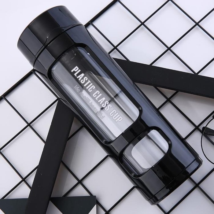 (全場免運)防摔玻璃杯雙層隔熱塑玻水杯便攜運動車載水瓶保溫杯茶杯LOGO 【不二先生】
