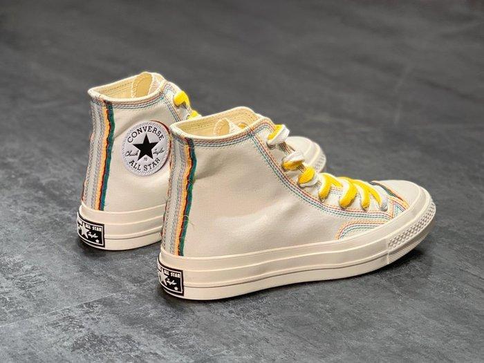 匡威Converse Chuck 70s 2020夏季帆布鞋 彩虹休閒硫化鞋 高幫帆布鞋 休閒板鞋