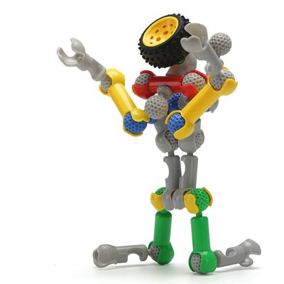 ~幼兒園兒童塑料拼插賽車積木,男孩寶寶益智桌面拼搭智力玩具6歲