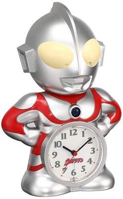 日本正版 Seiko Clock 精工 超人力霸王 語音 鬧鐘 桌鐘 時鐘 JF336A 日本代購