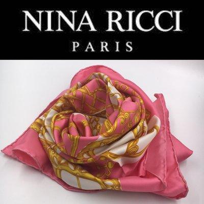 【皮老闆】990起標 二手真品 法國精品  NINA RICCI  絲巾 A229