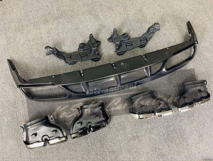 賓士 BENZ W205 2D 雙門 AMG 專用 改 C63S ED1 後下巴 後飾板 四出後中包 卡夢 現貨