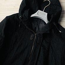 歐碼50 Fendi Vintage 黑色羊毛連帽外套 意外有喀什米爾觸感