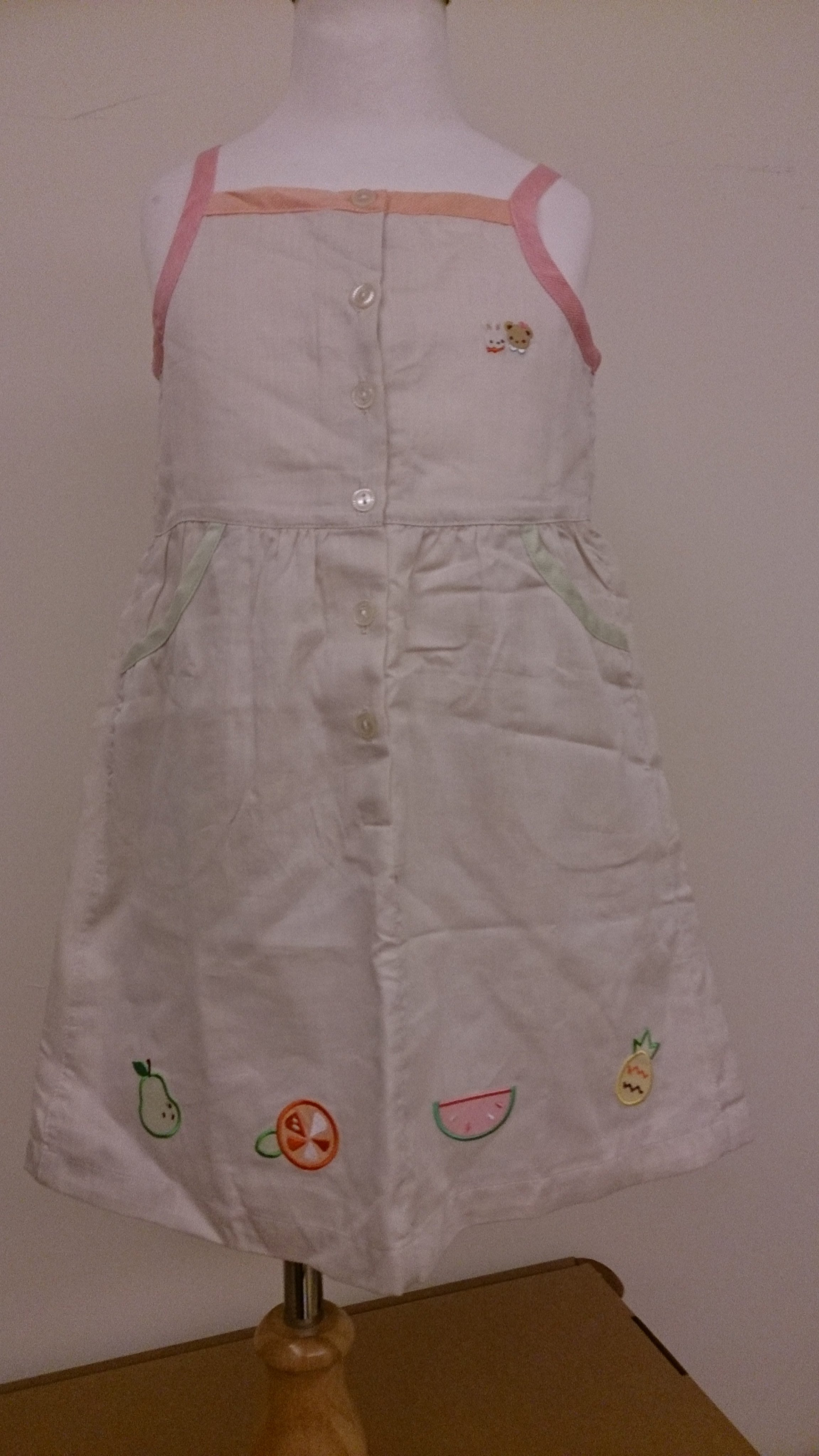 麗嬰房familiar米色細肩洋裝