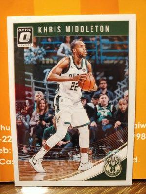 (記得小舖)NBA 密爾瓦基公鹿 Khris Middleton 2018-19Panini 普卡 1張 台灣現貨