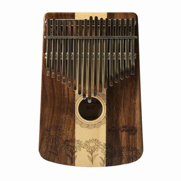 ☆唐尼樂器︵☆全館免運 Sunflower S17K 卡林巴琴 Kalimba 拇指琴 17音 相思木 雲杉單板