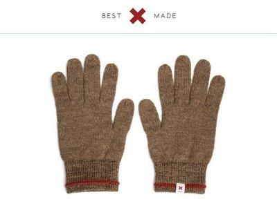 BEST MADE COMPANY 棕 高原羊毛手套 紅十字滾邊 輕量保暖細緻 Go Out 紐約設計 秘魯製 現貨SM
