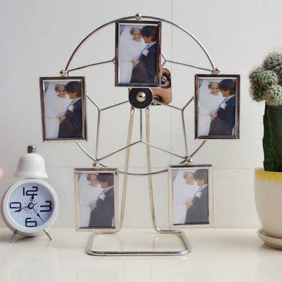 金屬3寸音樂風車創意相框送禮相架工藝禮品結婚禮物