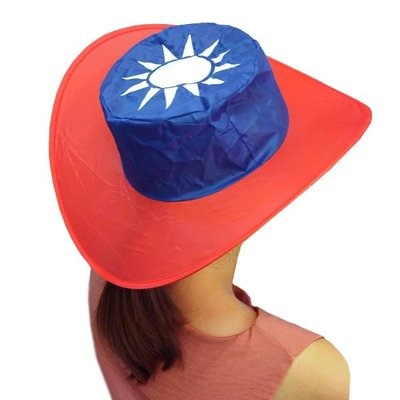 【贈品禮品】A4281 國旗帽/造勢應援聲援道具/可折疊防曬遮陽帽/紳士漁夫牛仔帽/贈品禮品