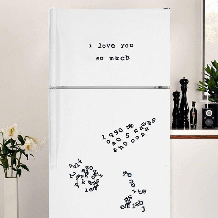 字母磁性冰箱貼  英文創意磁力冰箱貼 內含201個各種字元DIY 驚喜禮物創作求婚浪漫