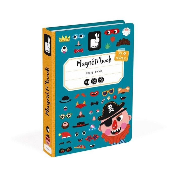 【魔法世界】法國 Janod 創意兒童智玩 磁鐵遊戲書-有趣的臉