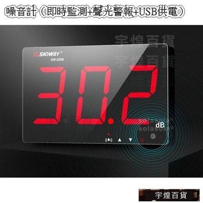 《宇煌》聲音測試家用分貝儀感測器壁掛式檢測器噪音計(即時監測+聲光警報+USB供電)_RzKs