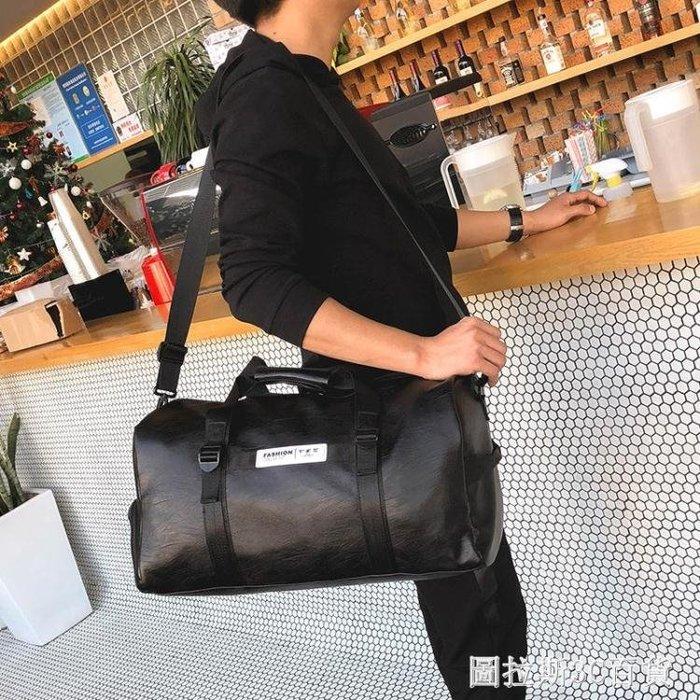 單肩斜挎手提旅行包女行李袋簡約輕便大容量訓練運動健身包男鞋位