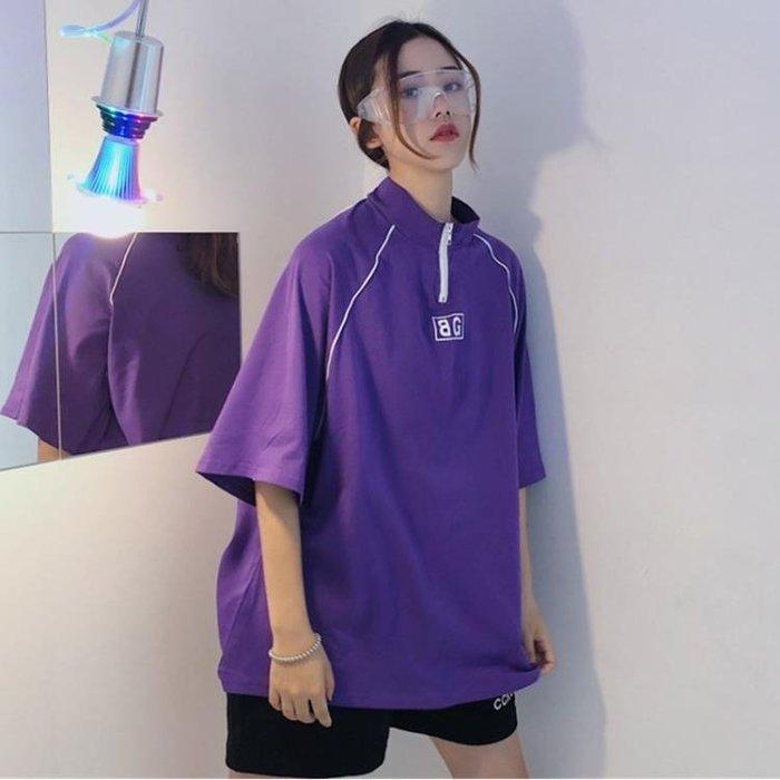 原宿短袖t恤女學生夏裝寬鬆韓版嘻哈中長款百搭蹦迪上衣