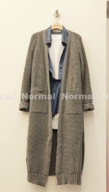 【現貨】妖精韓衣藏-正韓-韓國空運--隨性寬鬆長版粗針織開襟外套 19C1204