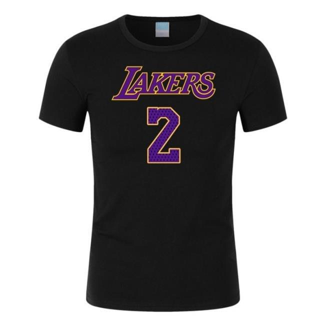 湖人隊2號鮑爾籃球服 湖人短袖T恤衫  town